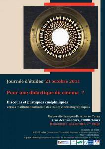 Cinéma(s) en didactique(s) – Journée d'études – Tours