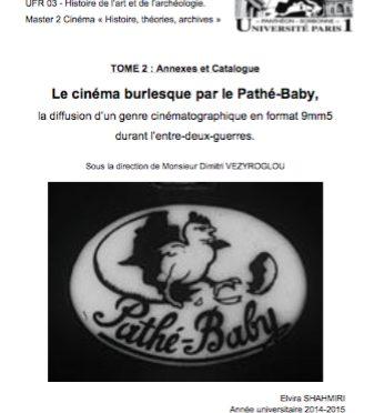 Pathé-Baby – Mémoire de M2, de Elvira Shahmiri
